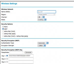 Netgear Wireless Settings screenshot 1